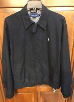 Polo Golf Ralph Lauren Men L Jacket Full Zip Black Lined Basic Rain