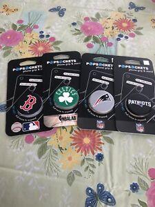 Pop socket Boston Sports Team Lot Of 4 Patriots Celtics  Red Sox New