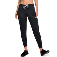 Under Armour UA Ladies Slim Leg Ribbed Cuff Joggers Sports Gym Pants M