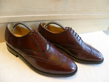 Barker burgundy full leather brogue UK 7.5 41.5 wingtip oxford Goodyear *Wide