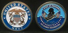 USS George Washington CVN 73 Officer Challenge Coin