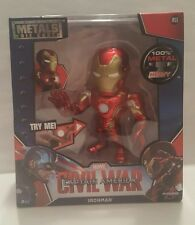 Jada 100% Metals Diecast 6 inch Iron Man Civil War with Light up Chest M55 NEW