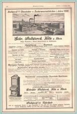 Werbung.Stollwerck automatische Chocolade-Sparkasse. Original Holzstich v. 1890