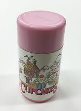 Vintage CUPCAKES Girls Lunchbox Thermos Tonka 1991 Aladdin Pink White Toy Dolls