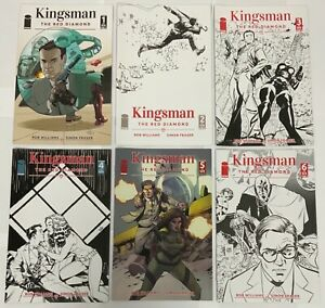 Kingsman Red Diamond Complete 6 Issue Image Netflix Set 1 2 3 4 5 6 Mark Millar