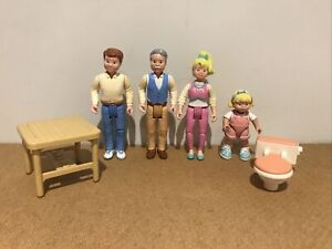 Fisher Price Loving Family Dolls House Figures & Furniture ~ 1993 ~ See Pictures