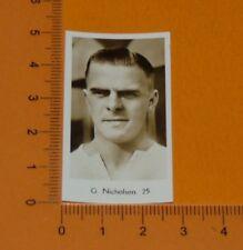 DE BEUKELAER CARD 1932 FOOTBALL BOLTON WANDERERS TROTTERS G. NICHOLSON