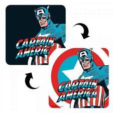 MARVEL Captain America. Single 10cm Holographic 3D Style Cork Coaster/Drinks Mat