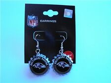 Baltimore Ravens Football NFL Aluminum Bottle Cap Charm Silver Dangle Earrings