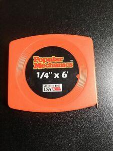 "1/4"" x 6' Pocket Tape Measure Popular Mechanics"