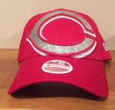 5cd030403e5b3 Era Cincinnati Reds Women s Red Glitter Glam 3 9forty Adjustable Hat