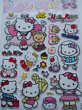 New Vinyl Tough 3D Hello Kitty Wall Children Craft Stickers Size:20 x 30cm PB