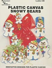 Snowy Bears Ornaments Tissue Box Cover Plastic Canvas Patterns Ala Mode 108 NEW