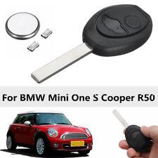 Kit 2 Boutons Coque Clé Télécommande Réparation pour BMW Mini One S Cooper R50