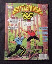 1991 BATTLEMANIA Magazine #3 NM 9.4 Valiant Big Boss Man The Mountie WWF Pin-Ups
