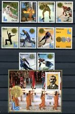 PARAGUAY 1981 Olympiade Olympics de Coubertin 3347-3356 + Block 360 ** MNH