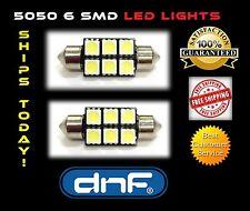 2 Superior White 5050 6 Smd Festoon Dome Map Interior Led Lights C5w 6411 6418