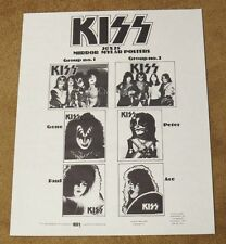KISS VINTAGE WHITE PROMOTIONAL POSTER FOR THE MYLAR SET 1977 AUCOIN