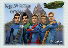 Personalised birthday card Thunderbirds are go son grandson dad  brother friend