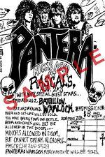 PANTERA 12x18 POSTER DIME PHIL VINNIE RASCALS CLUB TERRY GLAZE TOUR CONCERT BAND