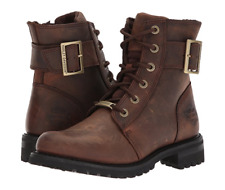 """NIB Harley-Davidson D87087 Women's 6.25"""" Sylewood Leather Motorcycle Brown Boots"""