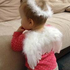 1 Set White Costume Feather Angel Wings For Baby Toddlers Dress Up Photo Props