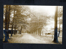 Weymouth MA Massachusetts  Street view  Road  Trees Houses RPPC Postcard