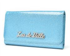 Lux De Ville Miss Lux Blue Glitter PVC Wallet  Retro Pinup Rockabilly Hotrod
