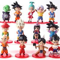13 Pcs/Set Dragon Ball Z Son Goku Gohan Goten Vegeta Trunks PVC Figure Model Toy