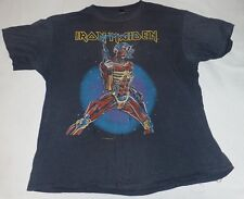 Iron Maiden Original 1987 Tour Shirt 2-sided w/dates size Xl Somewhere On Tour