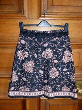 Vila Clothes Size Small Black & Brown Mandala Print Knee Length A-Line Skirt
