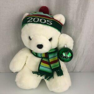 2005 MARSHALL FIELDS SANTABEAR TEDDY BEAR W/ ORNAMENT STUFFED ANIMAL PLUSH TOY