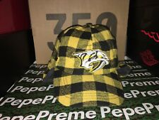 NEW Predators Hat Gold Yellow Black Plaid Ear Flap Nashville Subban