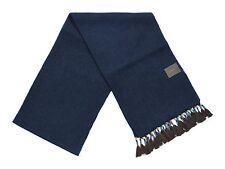 *NEW* J.Crew Women's Wool Blend Tassel Scarf in Navy Blue & Brown Tassels
