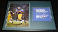 Johnny Unitas Chargers Framed 12x18 Photo & Quote Display