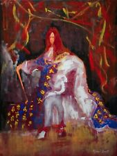 Red Haired King Classical Contemporary Art-Original Oil Painting-Pojani-ipalbus