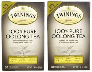 Twinings Of London 100% Pure Oolong Tea 2 Box Pack