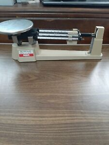 Vintage Ohaus Triple Beam Balance Scale 700/800 Series tested works see pics