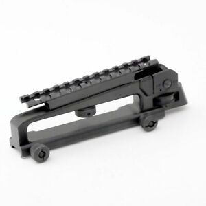 Metal Carry Handle Detachable W/ Dual Apertures Rear Sight+picatinny Weaver Rail