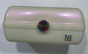 Caboodles Rainbow Rad - On-The-Go Girl Makeup Organizer, White Opal Iridescent