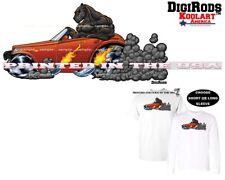 Digirods Prowler On The Prowl Big Cat Rare Hot Rod Car Cartoon Art T Shirt