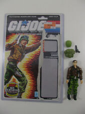 G I Joe ARAH 1986 Hawk V2 Complete w Full uncut filecard Cardback Vintage