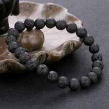 Unisex Elastic Natural Beads Bracelet Black Fashion Jewelry Gift