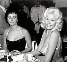 Iconic Sophia Loren & Jayne Mansfield 1957 8.5x11 Portrait Photo