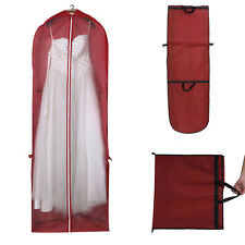 UK Garment Dress Cover Long Bridal Wedding Dresses Gown Zip Clothes Storage Bag