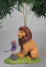 "Disney Lion King Mufasa with Zazu Christmas Tree Holiday Ornament PVC Figure 4"""