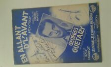 Autographe georges guetary