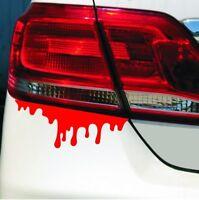 2x Blut Sticker Aufkleber Auto Motorrad Blood Rückleuchten Scheinwerfer Tropfen