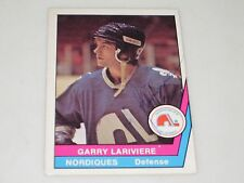 GARRY LARIVIERE AUTOGRAPHED 1977-1978 OPC O-PEE-CHEE WHA CARD