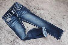 "New Twentyone Black Women Jeans Blue Low-Rise Slim Boot W30""_L32"" Size 5/6R"